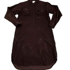 Billy Reid Brown 100% Cotton Shirt Dress